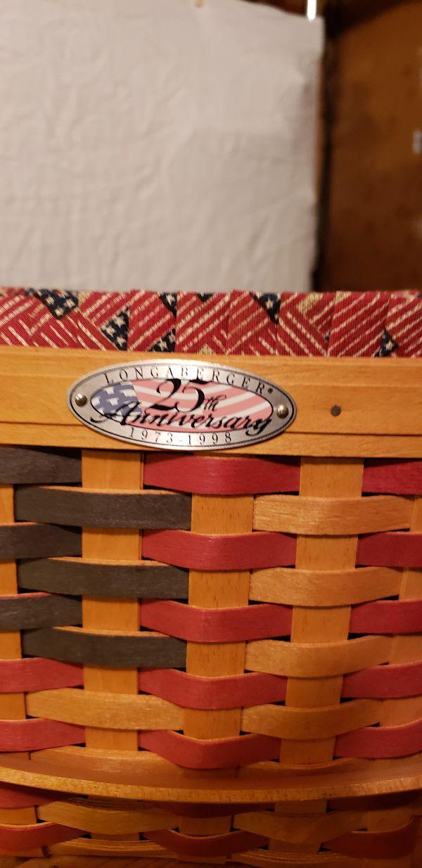 """Longaberger"" collector Handwoven Baskets"