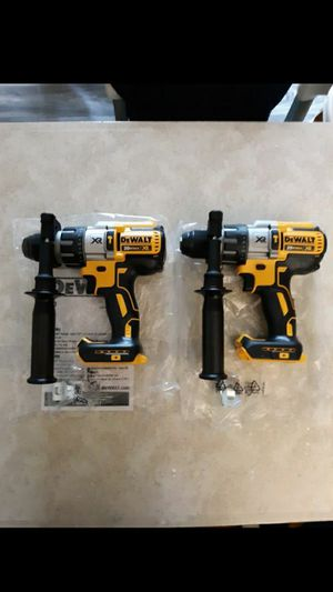 DEWALT 20 VOLT XR BRUSHLESS HAMMER DRILL 3 SPEED ( TOOL ONLY) NEW. NUEVO. $85 each. for Sale in Atlanta, GA