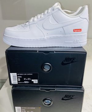 SUPREME x NIKE AIR FORCE 1 LOW, WHITE Multiple sizes for sale for Sale in Beverly Hills, CA