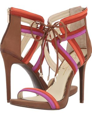Jessica Simpson strappy orange and pink heels size 8 brand new for Sale in Tempe, AZ
