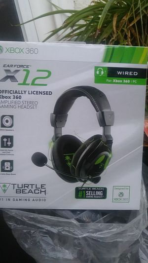 Turtle beach earforce x12 gaming headset for Sale in Bakersfield, CA