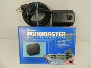 Supreme Pondmaster Mag Drive Pond / Fountain Pump 80 GPH for Sale in Modesto, CA