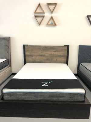 New 2 Tone Platform Wood Bed Frame : Queen / King / Cal King : Mattress Set Sold Separately : No Box Spring Required : Bedroom Set Available for Sale in Fremont, CA