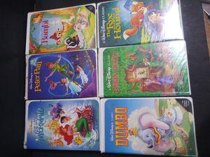 Disney Black Diamond VHS Classics for Sale in Garland, TX