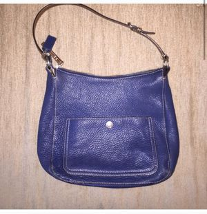 Coach Navy Leather Purse (Hobo Style) for Sale in Alexandria, VA