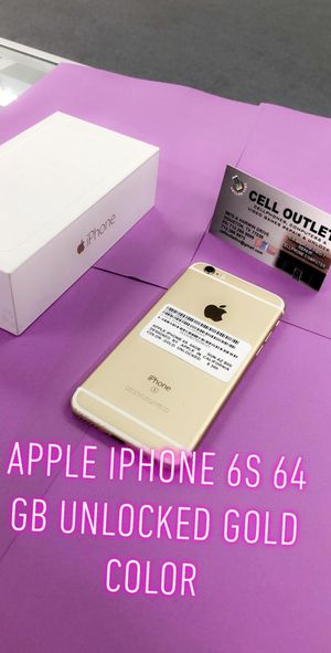 Apple iPhone 6s 64 GB unlocked gold color for Sale in Houston, TX