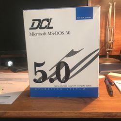 Original box with Microsoft MSDOS 5.0 software for Sale in Cordova,  TN