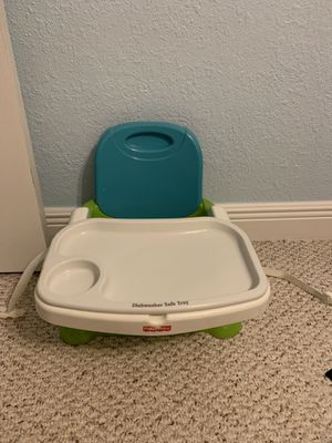 Fisher Price Portable High Chair / Booster with tray for Sale in West Palm Beach, FL