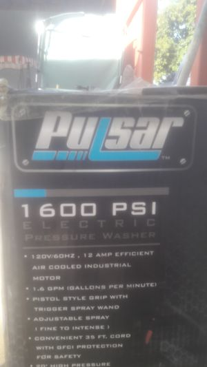 Pulsar 1600 pressure washer for Sale in Ontario, CA