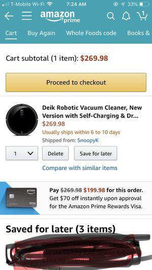 Deik robot vacuum for Sale in Rockville, MD