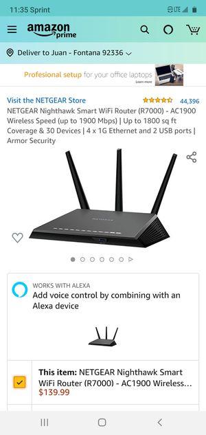 Wifi Router Nighthawk for Sale in Fontana, CA
