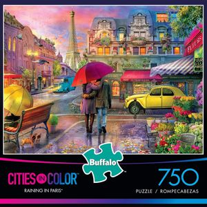 Buffalo Games - Cities iPuzzle : Color - Raining in Paris - 750 Piece Jigsaw Puzzle for Sale in Bloomington, IN