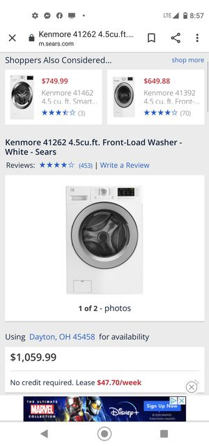 Kenmore ELECTRIC front loading washer and dryer for Sale in Ogden, PA