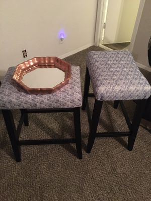 Restored barstools and large coffee table mirror for Sale in Jenks, OK