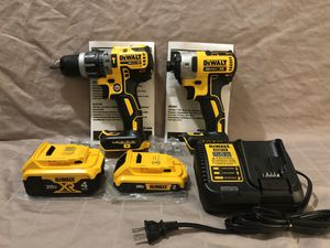 Brand new never used Dewalt XR 20V brushless hammer drill and impact driver tool set. With tool bag for Sale in Vacaville, CA