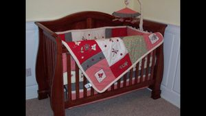 Baby Crib Sled style Cherry Wood for Sale in Tampa, FL
