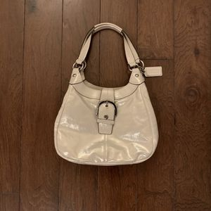 Coach Soho Lynn Leather Hobo Shoulder Bag F17219 Champagne for Sale in Humble, TX