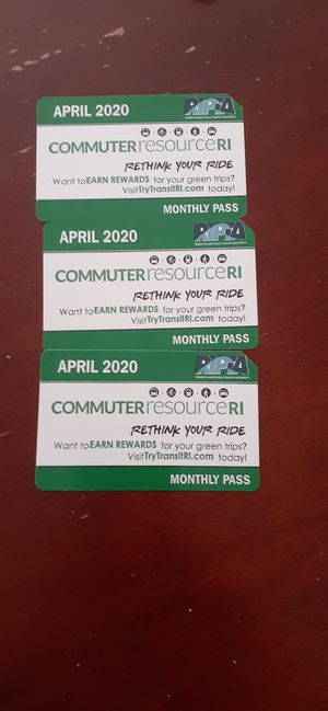 Monthly pass for Sale in Providence, RI
