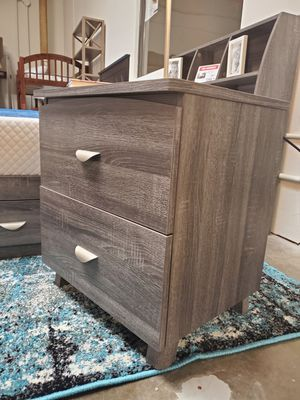 Night Stand, Distressed Grey for Sale in Fountain Valley, CA