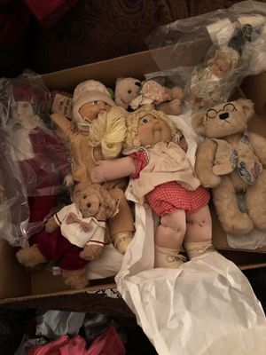 Antique dolls and vintage bears for Sale in Richmond, VA