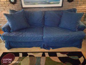 Roomstogo denim sofa FREE for Sale in Tampa, FL