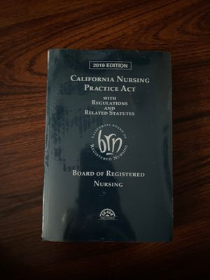 California Nursing Practice Act 2019 for Sale in Whittier, CA