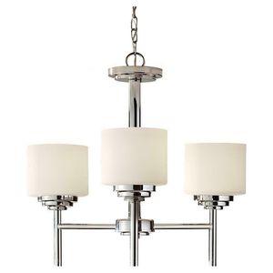 3-Light Brushed Nickel Kitchen Chandelier Shade Indoor Lighting Fixture Living Room Bedroom for Sale in Henderson, NV