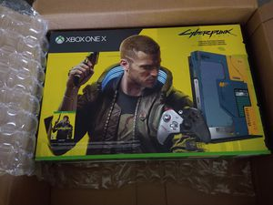 Xbox One X 1TB Cyberpunk Limited Edition Only 45K units were made! NEW! sealed box The game released today and is included with the Xbox! for Sale in Fort Lauderdale, FL