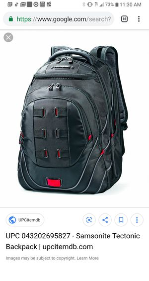 Samsonite TECTONIC PFT LAPTOP BACKPACK for Sale in San Diego, CA