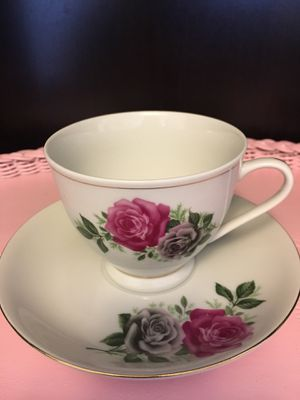Double Rose (China ) vintage tea cup and saucer for Sale in Cornelius, OR