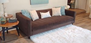 Crate and Barrel CB2 Velvet Couch- FREE DELIVERY for Sale in Tampa, FL