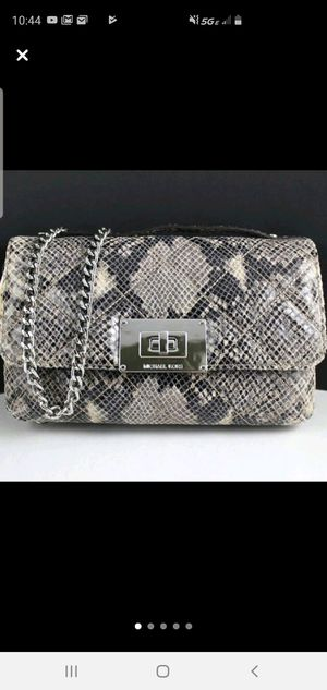 New authentic Michael Kors leather python bag for Sale in Joliet, IL