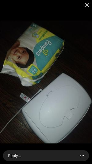 Size 5 pampers and wipe warmer for Sale in Detroit, MI