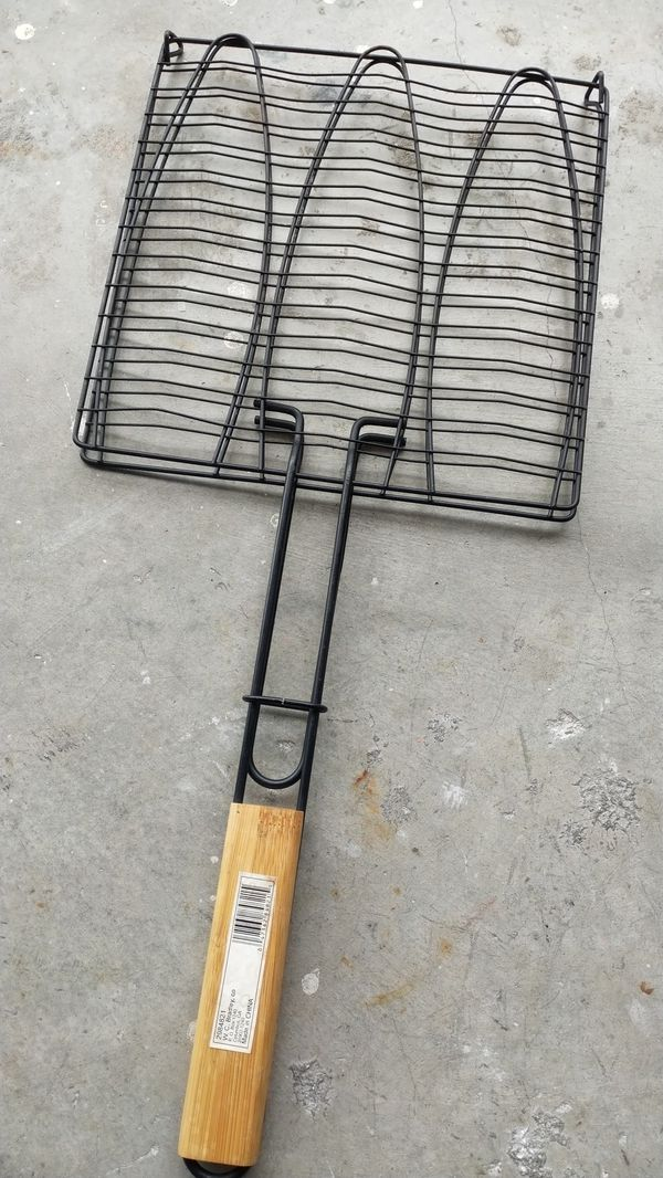 BBQ grilling cage/grate to cook fish & vegetables, New