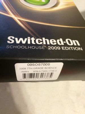 Switched On Schoolhouse 7th grade science for Sale in Durham, NC