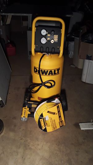 Compressor, hose and nail gun. DEWALT for Sale in Falls Church, VA