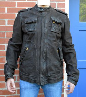 DIESEL leather motorcycle jacket for Sale in Bethesda, MD