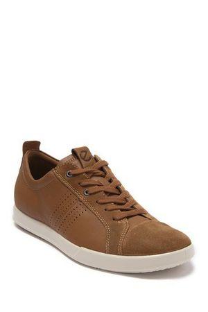 ECCO Collin 2.0 Men's Leather Sneaker EU 46/US 12-12.5 Camel MSRP $190 for Sale in Springfield, VA