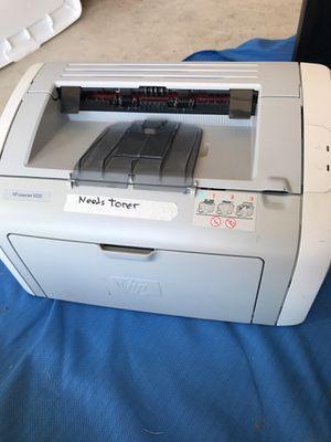 HP laser jet 1020 printer , needs toner& power cord for Sale in Buda, TX