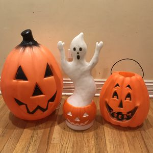 Set of vintage Halloween blow molds for Sale in Arlington Heights, IL