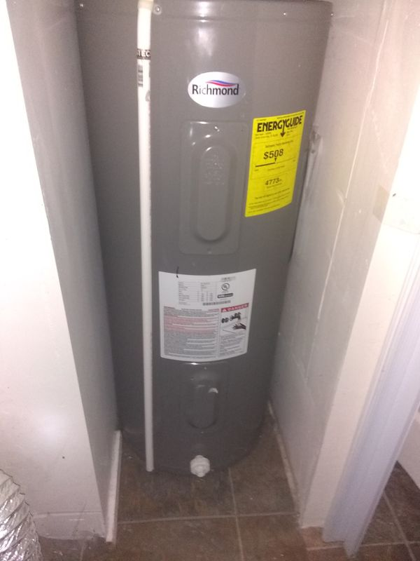 Used Electric 40 Gallon Hot Water Heater Works Great For