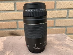 Canon lense 75-300mm $90 or best offer for Sale in Anaheim, CA