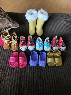 American girl doll/our generation shoes for Sale in Goodyear, AZ