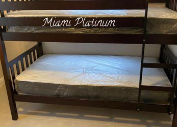 Bunk bed 🛏 Mattress included for Sale in Hollywood,  FL