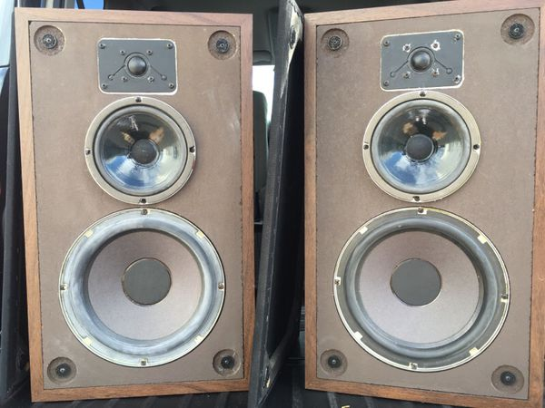 Vintage Polk audio speakers from the 80's