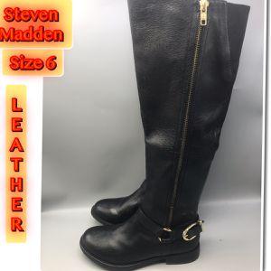 Steve Madden Women's Skippur Tall Leather Upper size 6 for Sale in Middletown, NJ