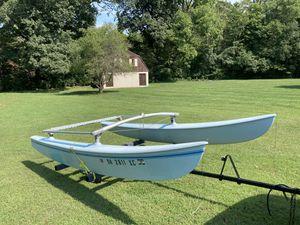 Hobie Cat H16 Sail Boat Pontoons, Frame, & Trailer for Sale in Columbus, OH