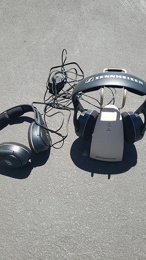 Sennheiser Radio Headphones - Set of 2 with stand & plugs for Sale in Costa Mesa, CA