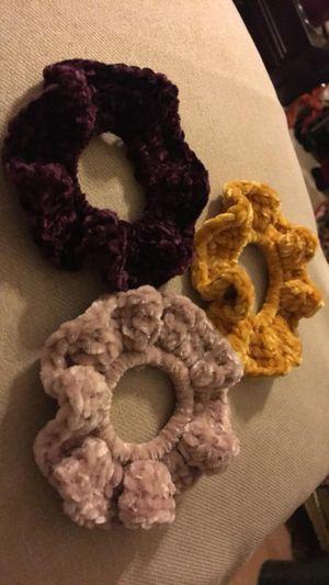 Handmade Crochet Scrunchies for Sale in Lubbock, TX
