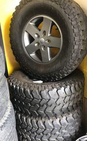 Jeep Wrangler wheels and tires for Sale in Nashville, TN